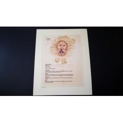 Diplome signe astrologique - Zodiaque - Lion - Neuf