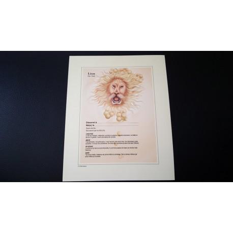 Diplome signe astrologique - Zodiaque - Lion - idée cadeau anniversaire fête Neuf