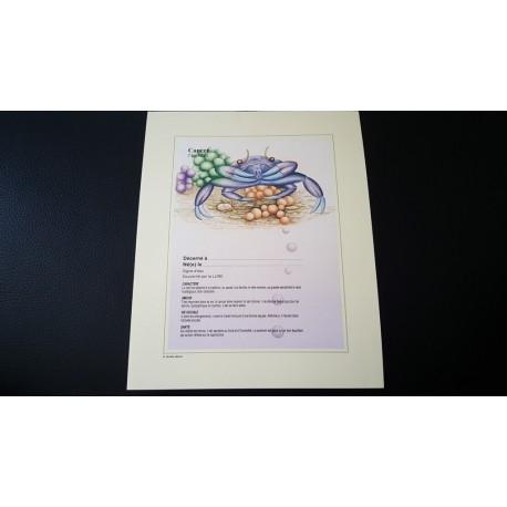 Diplome signe astrologique - Zodiaque - Cancer - Neuf