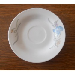 Ancienne soucoupe en céramique Chinoise modèle fleurie