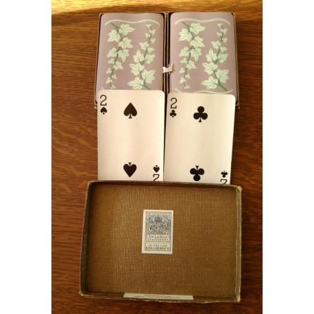 Ancien lot de jeu de cartes anciennes 2 x 54 cartes complets