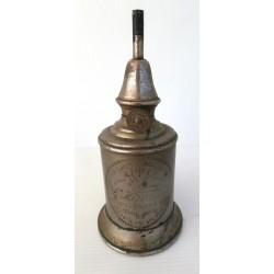 Ancien pied de lampe pétrole l'hirondelle lampe de sûreté garnie de feutre, brulant a l'essence naturelle