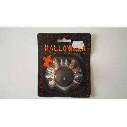 Halloween - bougeoir araignée avec bougie noire - neuf