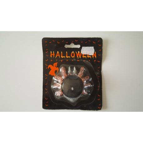 Halloween - bougie avec bougeoir araignée neuf