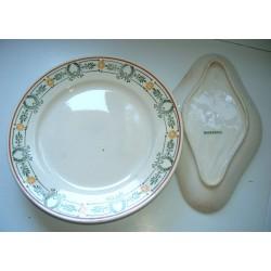 Ancien plat assiette plate ceramiques MASSENA diametre 29 cm