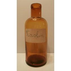 Ancienne bouteille médicinale pharmacie marron verre kaolin