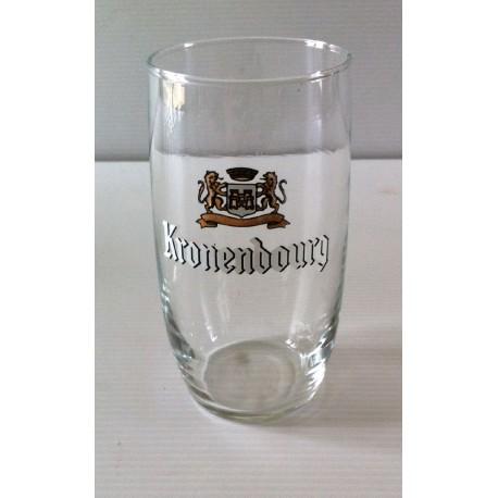 """Collection verre a biere """"KRONENBOURG"""" hauteur 12 cm tbe"""