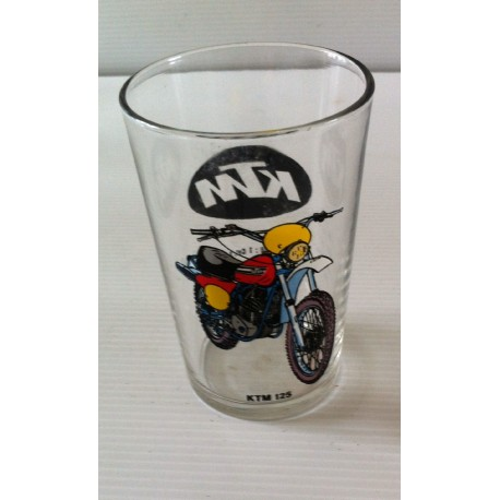 Ancien verre a moutarde KTM 125 collection moto