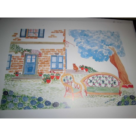 POSTER DÉCORATIF REPRODUCTION (35x25cm) MARTINE TOUFET JARDIN
