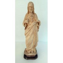 Très ancienne statuette religieuse platre christ religion