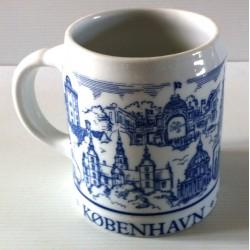 "Ancienne tasse verre chope en grès avec anse bière "" KOBENHAVN SCANDINAVIAN"" neuve"