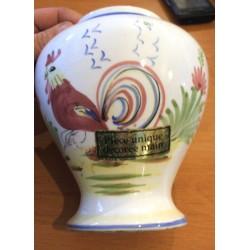 Ancien vase porcelaine A.C n° 262 pièce unique fait main barbotine