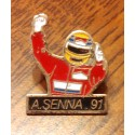 """Pin's collection """"A. SENNA 91 FORMULE 1"""""""