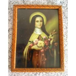 Ancien cadre sous verre vierge marie religion église