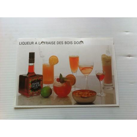"""FICHE CUISINE vintage rétro la bonne cuisine les conserves """"liqueur à la fraise des bois dolfi"""""""