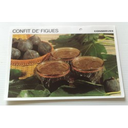 """FICHE CUISINE vintage rétro la bonne cuisine les conserves """"confit de figues"""""""
