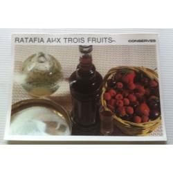 """FICHE CUISINE vintage rétro la bonne cuisine les conserves """"ratafia aux trois fruits"""""""
