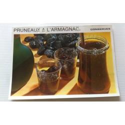 """FICHE CUISINE vintage rétro la bonne cuisine les conserves """"pruneaux à l'armagnac"""""""