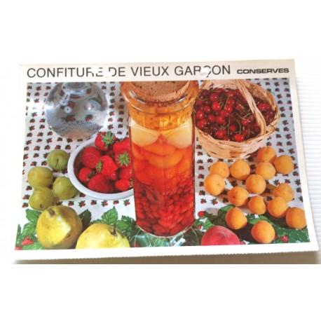 """FICHE CUISINE vintage rétro la bonne cuisine les conserves """"confiture de vieux garçon"""""""