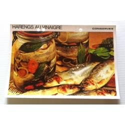 """FICHE CUISINE vintage rétro la bonne cuisine les conserves """"harengs au vinaigre"""""""