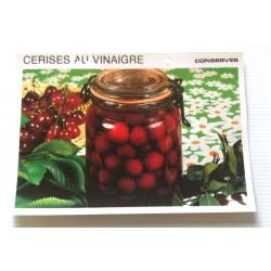 """FICHE CUISINE vintage rétro la bonne cuisine les conserves """"cerises au vinaigre"""""""