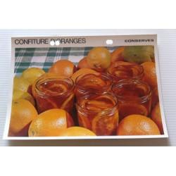 """FICHE CUISINE vintage rétro la bonne cuisine les conserves """"confiture d'oranges"""" collection occasion"""