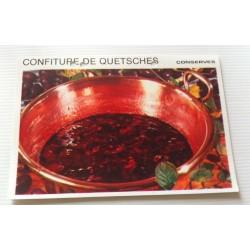 """FICHE CUISINE vintage rétro la bonne cuisine les conserves """"confiture de quetsches"""""""