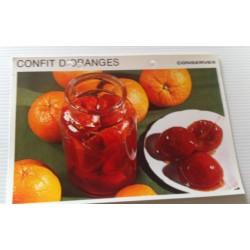 """FICHE CUISINE vintage rétro la bonne cuisine les conserves """"confits d'oranges"""" collection occasion"""