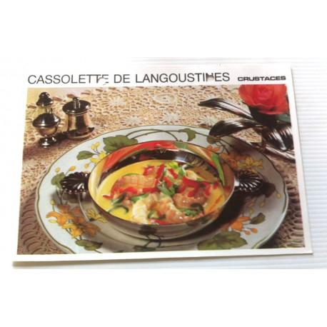 """FICHE CUISINE vintage rétro la bonne cuisine les crustacés """" cassolette de langoustine """""""