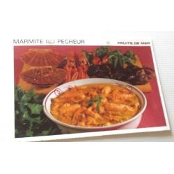 """FICHE CUISINE vintage rétro la bonne cuisine les fruits de mers """" marmite du pêcheur"""""""