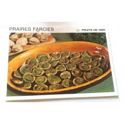 """FICHE CUISINE vintage rétro la bonne cuisine les fruits de mers """"praires farcies"""""""
