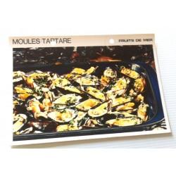 """FICHE CUISINE vintage rétro la bonne cuisine les fruits de mers """"moules tartare"""""""