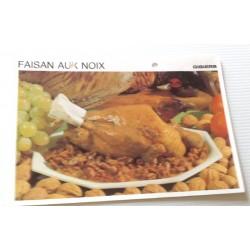 """FICHE CUISINE vintage rétro la bonne cuisine les gibiers """"faisan aux noix"""""""