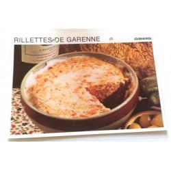 """FICHE CUISINE vintage rétro la bonne cuisine les gibiers """"rillettes de garenne"""""""