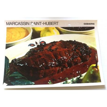 """FICHE CUISINE vintage rétro la bonne cuisine les gibiers """" marcassin saint Hubert """""""