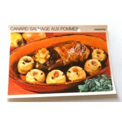 """FICHE CUISINE vintage rétro la bonne cuisine les gibiers """"canard sauvage aux pommes 02"""""""