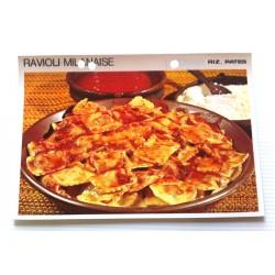 """FICHE CUISINE vintage rétro la bonne cuisine riz,pâtes """" ravioli milanaise"""""""
