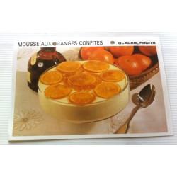 """FICHE CUISINE vintage rétro la bonne cuisine glaces,fruits """" mousse aux oranges confites"""" collection occasion"""