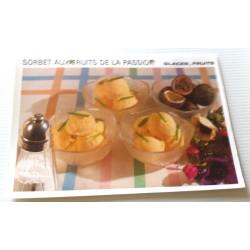 """FICHE CUISINE vintage rétro la bonne cuisine glaces,fruits """" sorbet aux fruits de la passion""""collection occasion"""