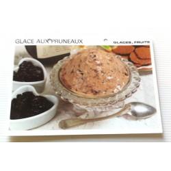 """FICHE CUISINE vintage rétro la bonne cuisine glaces,fruits """" glace aux pruneaux"""""""