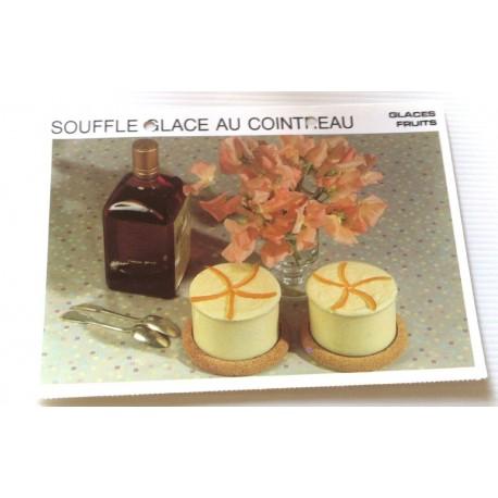 """FICHE CUISINE vintage rétro la bonne cuisine glaces,fruits """" soufflé glacé au cointreau"""""""