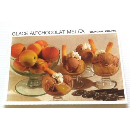 """FICHE CUISINE vintage rétro la bonne cuisine glaces,fruits """" glace au chocolat melba """""""