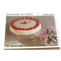 """FICHE CUISINE vintage rétro la bonne cuisine glaces,fruits """" bavaroise du forez"""""""