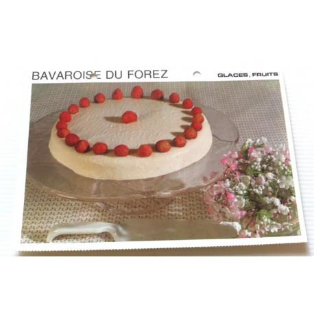 """FICHE CUISINE vintage rétro la bonne cuisine glaces,fruits """" bavaroise du forez """""""
