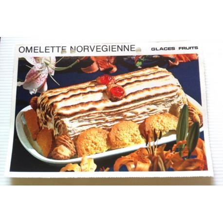 """FICHE CUISINE vintage rétro la bonne cuisine glaces,fruits """" omelette norvégienne """""""