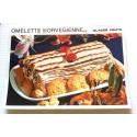 """FICHE CUISINE vintage rétro la bonne cuisine glaces,fruits """" omelette norvégienne"""""""