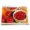 """FICHE CUISINE vintage rétro la bonne cuisine glaces,fruits """" fraises délices"""""""