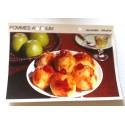 """FICHE CUISINE vintage rétro la bonne cuisine glaces,fruits """" pommes au rhum"""""""