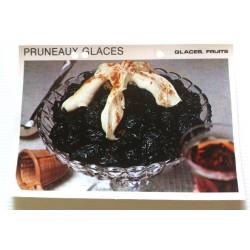 """FICHE CUISINE vintage rétro la bonne cuisine glaces,fruits """" pruneaux glacés"""""""