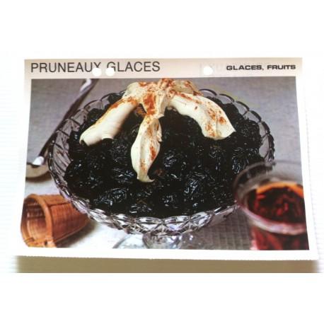 """FICHE CUISINE vintage rétro la bonne cuisine glaces,fruits """" pruneaux glacés """""""